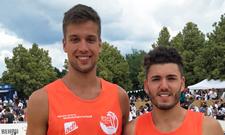 Jannis Hopt (links) und sein Partner schafften es bei den Hochschulmeisterschaften auf Platz 2.