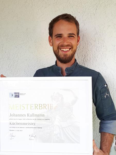 Johannes Kullmann, erfolgreicher Küchenmeister, auf dem Weg in die Selbstständigkeit.