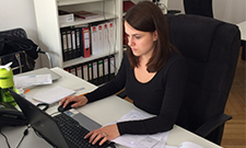 "Kristina Rothermel ist glücklich im Studiengang ""Kommunikation & Eventmanagement""."