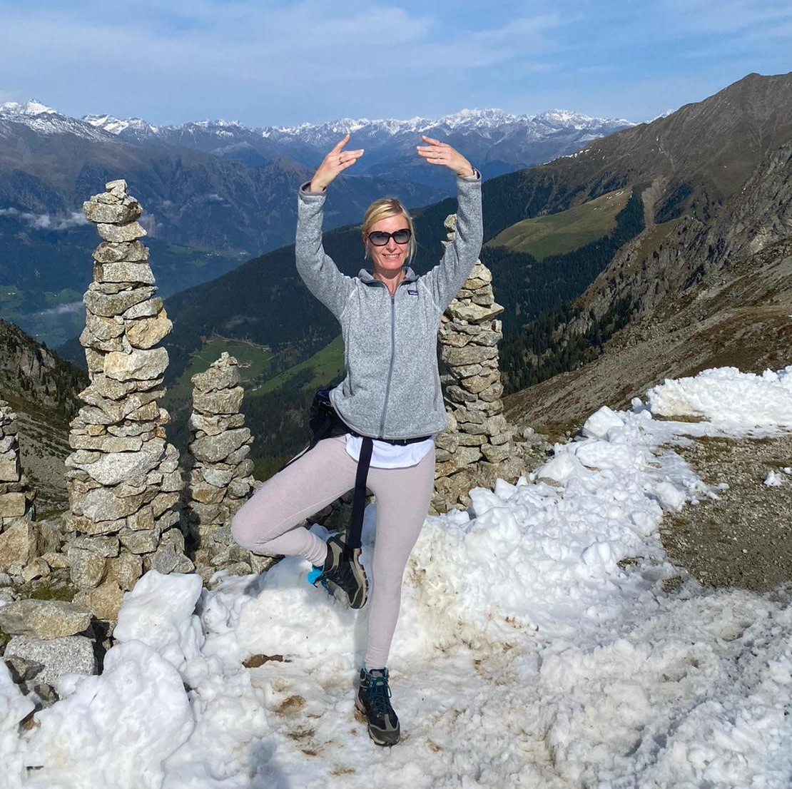 IST-Absolventin Ragnhild Post-Knedlich ist mit Yoga glücklich.