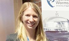 Stefanie Wilczek präsentierte ihre Bachelor-Arbeit.