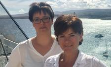 Claudia Köster (links) berichtet über ihren Karriereweg.