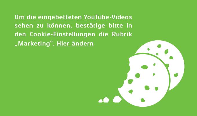 Youtube Seo: Online Cookies auf grünem Hintergrund
